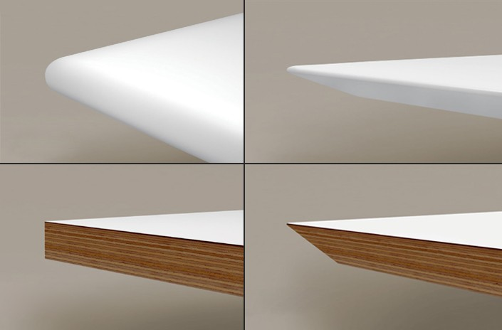 Niblick Edge Details<br>Clockwise from Top Left:<br>